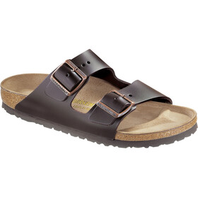 Birkenstock Arizona Sandals Natural Leather dark brown